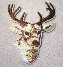 ÉCUSSON PATCH BRODE thermocollant - TÊTE de CERF  CHEVREUIL **9 x 7 cm**