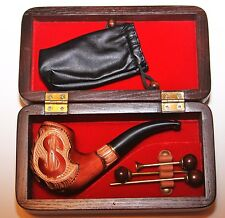 """Gift Set:smoking pipe """"Dollar"""", Box for pipe & Accessories for cleaning"""