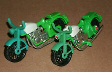 Two 1/24 Scale Plastic Motorcycle Models - Vintage 1976 Playmobil Emergency Bike