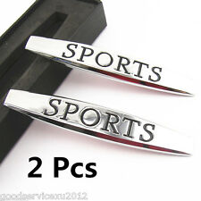 2 X Metal 3D Sport Emblem Logo Badge Car Body Side Fenders Stickers For Lincoln