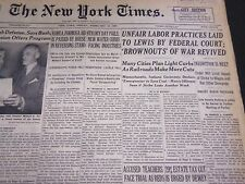 1950 FEBRUARY 10 NEW YORK TIMES - UNFAIR LABOR PRACTICES LAID TO LEWIS - NT 4728