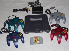 +++ NINTENDO 64 N64 SYSTEM *COMPLETE* + 4 CONTROLLERS + Diddy Kong Racing GAME