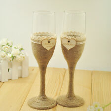 1 Set Personalized Wedding Glasses Wedding Champagne Toasting Flutes Names&Date