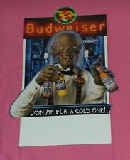 original CRYPTKEEPER BUDWEISER Bud Ice Light beer tabletop display table tent