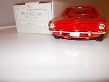 1974 Plymouth Barracuda 'Cuda Red Dealer Promotional Model Car GrumpyKarz
