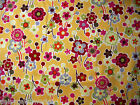 Oz Moda Sanae Cotton Fabric Flower Basket Yellow Multi Floral 1 Metre