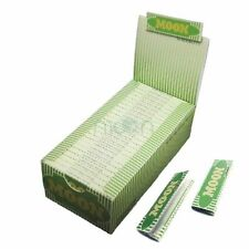 "Moon 50 booklets 70*36mm 1.0"" Pure Hemp Cigarette Rolling Papers all 2500 leaves"