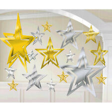 3D Silver Gold Stars String Decorations Wedding Birthday New Year Party Supplies