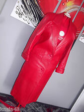 Vintage TIBOR red genuine lamb leather,full length Coat