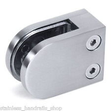 Zintec Steel Glass Handrail Balustrade Clamp Clip Flat Base