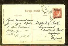 MOROCCO AGENCIES (P1206B) 1910   KE 10C   ON PPC TANGIER TO ENGLAND