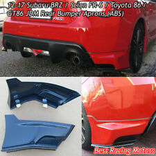 12-17 FR-S / Toyota 86 JDM Rear Bumper Aprons (ABS)