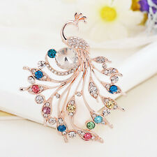 Women Fashion Vintage Alloy Rhinestone Crystal Wedding Bridal Bouquet Brooch Pin