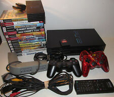 Sony PlayStation 2 PS2 Fat Console System Bundle with 14 Games Memory Card ++