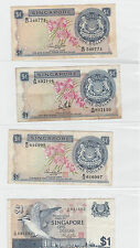 Singapore Orchid $1 LKS, HSS with seal, HSS without seal
