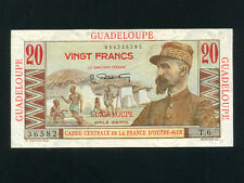 Guadeloupe:P-33,20 Francs,1947 * French Rule * E. Gentil * UNC *