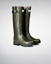 Hunter Balmoral Lady Neoprene Olive Wellington Boots Wellies Size 7 Eu 40/41