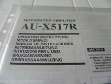 Sansui AU-X517R Owner's Manual  Operating Instructions Istruzioni New