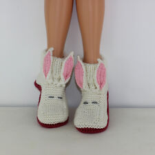 PRINTED KNITTING INSTRUCTIONS- ALICE'S WHITE RABBIT BOOTS ADULT KNITTING PATTERN