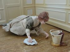 "SALE : Artisan James Carrington Sculptured ""Floor Washer Woman"" - England"