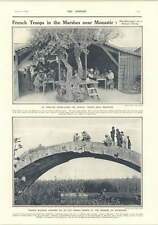 1917 French Troops Marshes Near Monastir Roman Bridge Mrs Asquith's Reminiscence