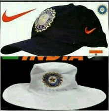 indian cricket test cap and white round test hat