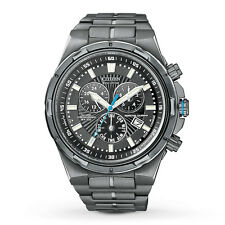 Men's Citizen Eco-Drive Perpetual Calendar Black Chronograph Watch BL5435-58E