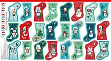 NEW Frosty Christmas Mini Stockings Advent Calendar Bunting PANEL Cotton Fabric