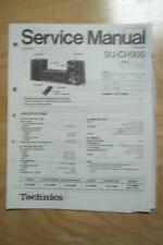 Technics Service Manual for the SU-CH900 Amplifier Amp (SC-CH900)