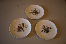 "Set of 3 Vintage Mottahedeh Porcelain 7 ¾"" Bird Plates"