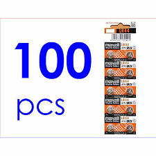 100x Maxell LR44 A76 AG13 357 303 SR44 L1154 Alkaline Battery Made in Japan NEW