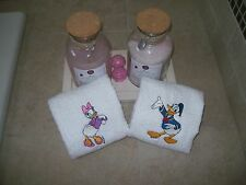Donlad and Daisy Ducks 2 Hand Towels- Personalized