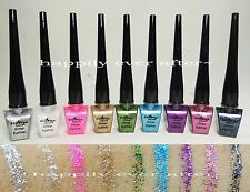 Italia Deluxe Glitter Eyeliner - Full Set of 9 Colors *Glitter Liquid Eyeliners*