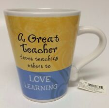 A Great Teacher Loves Teaching Others To Love Learning Coffee Mug Cup 11 Oz