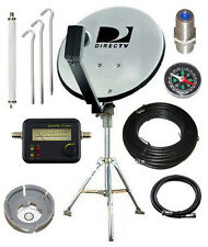 DirecTV 18 Dish Portable Tripod Satellite Kit RV Camping Tailgating With Meter
