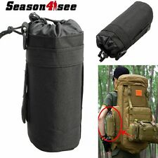 Tactical 1L Water Bag Molle Water Bottle Bag Kettle Pouch Holder Hunting Hiking