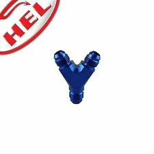 HEL PERFORMANCE Y Piece Male Fitting Aluminium -10 AN JIC BLUE