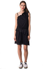 RRP €353 DIESEL Size L Women's D-PENNY Frayed Edges Embroidered Eyelets Dress