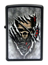Zippo Lighter 28882 Steampunk Skull Black Matte Windproof Pocket Classic NEW