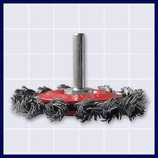 Drahtbürste Scheibenkopfbürste für Bohrmaschine Schaft 6 mm, gezopft Ø 75 mm