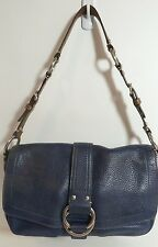 AUTH  Coach 10893 Chelsea Navy Blue Pebbled Leather Hobo Shoulder Bag