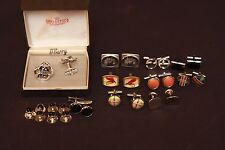 Men's Fashion Jewelry Lot  Vintage Cufflinks Large Stainless Steel Cross Pendant