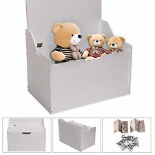 Childrens Kid Large Toy Box Bedroom Storage White Chest Bench Furniture Unit