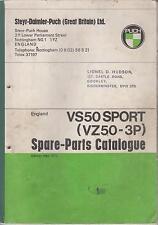 PUCH VS50 SPORT ( VZ50-3P ) ORIGINAL 1972 FACTORY SPARE PARTS CATALOGUE