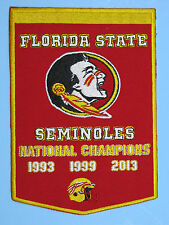 "Fla State Seminoles Football Iron On National Champions Banner Patch BIG 5"" x 7"""