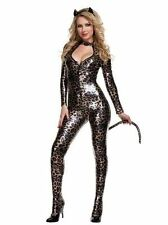 Sexy Naughty Black Catsuit Catwoman Outfit PVC Costume Fancy Dress Leather Hen