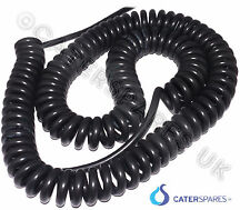 CURLY SPIRAL ELECTRICAL MAINS CABLE MULTI USE UP TO  4 METER LONG PARTS 13A 3kw