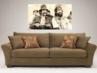 """CHEECH & CHONG MOSAIC 35""""X25"""" INCH WALL POSTER DOPE AND HIPPIE"""
