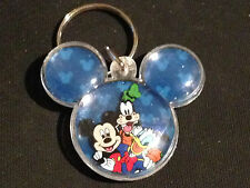 Disneyland Goofy Donald Duck Mickey Mouse Head Icon Plastic Domed Keychain