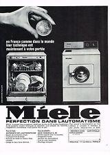 PUBLICITE ADVERTISING 114  1966  MIELE  lave linge lave-vaisselle